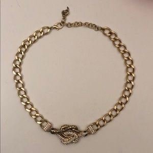 Snake gold golden chain link necklace